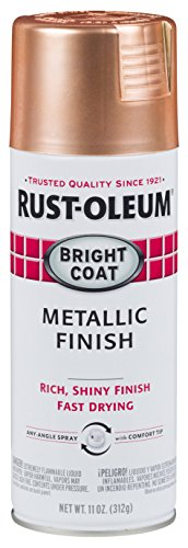 Rust-Oleum 314417-6PK Bright Coat Metallic (6 Pack) Spray Paint, Copper