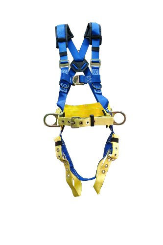 Elk River 75423 TowerMaster Polyester/Nylon LE 4 D Ring Harness with Tongue Buckles, Large
