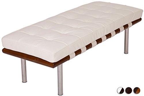 Leather Walnut Bench - 8