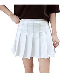 Women Girls Short High Waist Pleated Skater Tennis School Skirt