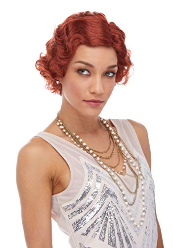 Roaring 20S Costume Wig By Characters 7 - Auburn -