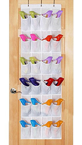 24 hanging pocket door hanging bag folding shoe rack hanger - 2