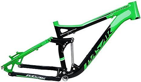 WANGYONGQI Suspensión Completa Cuadro de Aluminio Aleación MTB Mountain DH Am Ciclismo Bicicleta Marco 26/27.5er * 17 Pulgadas Parte de Bicicleta Cuesta Abajo,B: Amazon.es: Deportes y aire libre