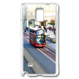 VUTTOO Rugged Samsung Galaxy Note 4 Case, London Case for Samsung Galaxy Note 4 N9100 PC Transparent
