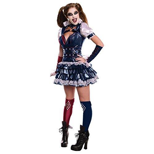 Harley Quinn Women's Adult Batman Arkham City Dress Costume (XS) -