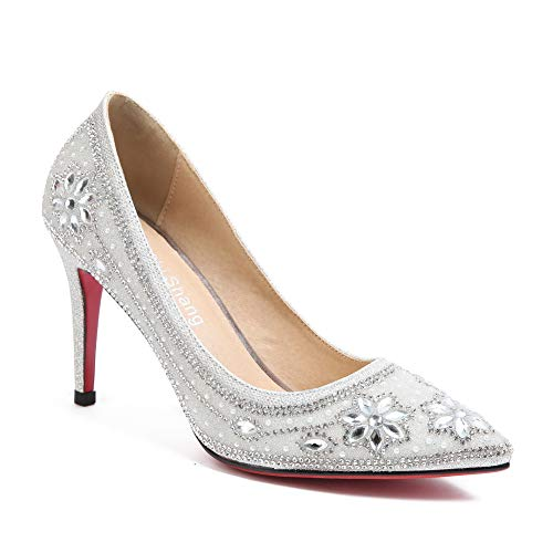 EU AN 5 36 Argenté DGU00764 Compensées Silver Sandales Femme F1xOU