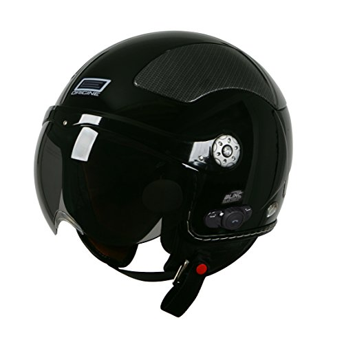 Amazon.com: Origine O528B Pilota 3/4 Helmet with Blinc Bluetooth (Black, Medium): Automotive