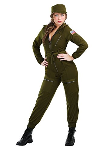 Womens Army Flightsuit Costume X-Large Green