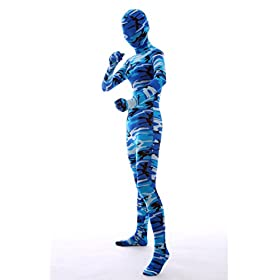 - 41NgnX2 pUL - Nedal Halloween Costumes For Women Camouflage Zentai Lycra Spandex Bodysuit Navy