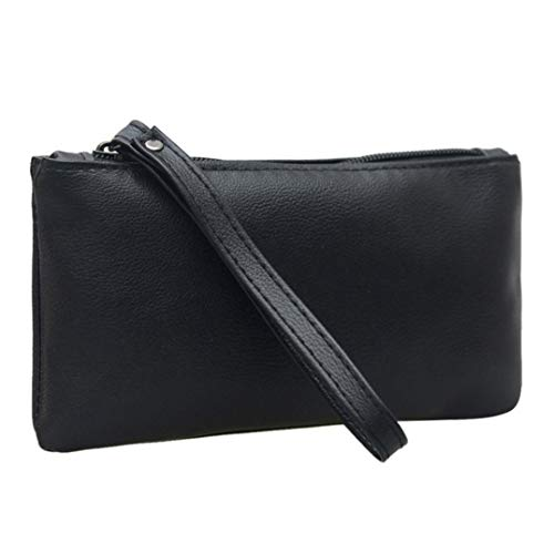 Clutches Daily Women Fashion Kanpola Clutch Purse Handbag Black Use Quality Black Handbag Wallet atOddx5wq