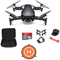 DJI MAVIC Air Onyx Black - Bundle With 32 GB Micro HDSC Card, FS Labs Foldable Drone Storage Bag, FS64 Mavic Air Accessories Bundle Set, Protective Fast-fold Drone Landing Pad