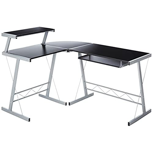BHG L Shape Computer Desk Black