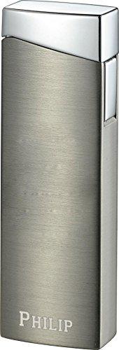 (Personalized Visol Camino Satin Gunmetal Torch Flame Lighter - Free Engraving (Text))