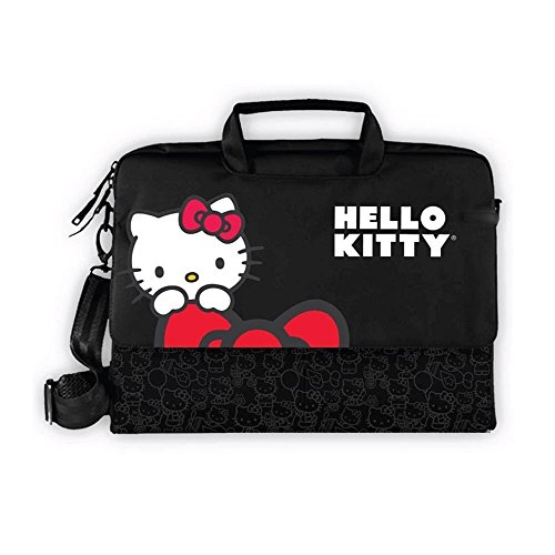 Hello Kitty KT4335R 15.4 Laptop Carrying Case Black Shoul...