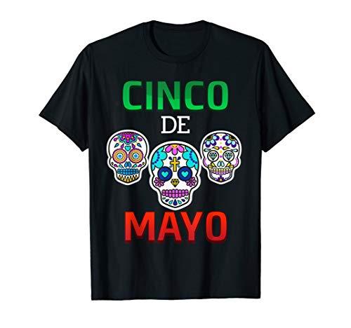 Cinco de Mayo 2019 Sugar Skull Gift T-Shirt men women kids ()