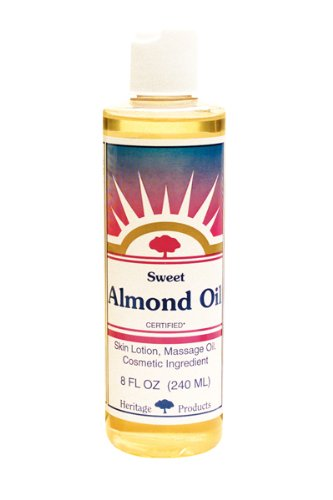 Heritage Store Almond Oil, Sweet, 8 Ounce