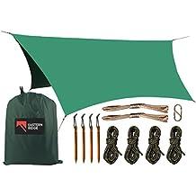 Camping Hammock Hex Tarp - Waterproof Windproof Lightweight Durable Rainfly Shelter
