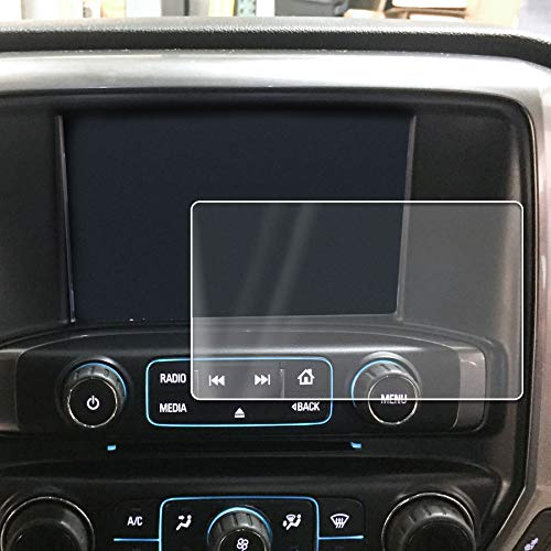 (2014-2018 Compatible with Chevy GMC Silverado Sierra 1500 MyLink Intellink Screen Saver 1pc Custom Fit Invisible High Clarity Touch Display Protector Minimizes Fingerprinting 8)
