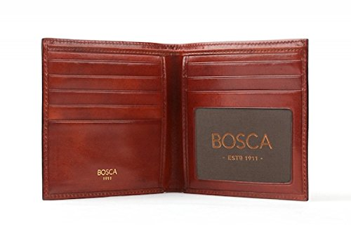 Bosca Old Leather ID Hipster Credit Card Wallet (Cognac)