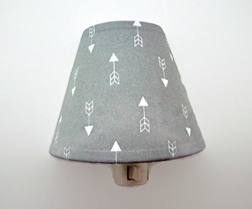 Tribal Arrows Night Light Grey and White by cathyscraftycovers