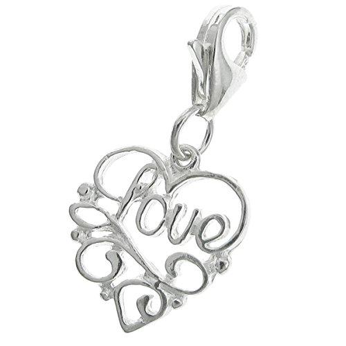 Dreambell 925 Sterling Silver Heart Love Dangle