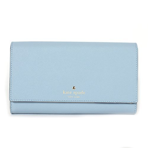 Kate Spade New York Mikas Pond Phoenix Tri-Fold Wallet Clutch Handbag (Arctic Sky) by Kate Spade New York
