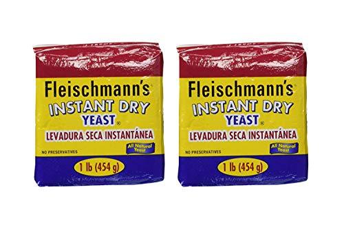 Fleischmann's Instant Yeast - 2 Count/each 16 oz. bags (2 Pack) by Fleischmann's (Image #1)