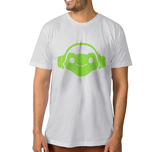 SUEPER Men's OverLucio Video Game Hero Classic Shirt Short Sleeve T-Shirts White XXL