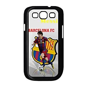 Barcelona Lionel Andr¡§|s Messi soccer and football Classic Design Print Black Case With Hard Shell Cover for Samsung Galaxy S3 I9300