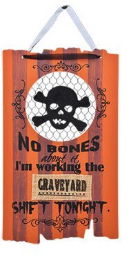 Wooden Hanging Halloween Signs ~ With Quotes (No