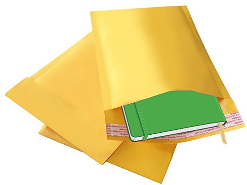 Bubble Mailer Envelopes - 25 Pack 6 x 10-inch ShipQuick Bubble Mailer Envelopes with Hot Melt Glue Adhesive - Lightweight, Strong Envelope Bags with Bubble Padding - Thick & Flexible - To Arrive First For Mail Time Class