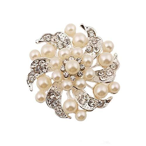 Floral Pearl Brooch Pin