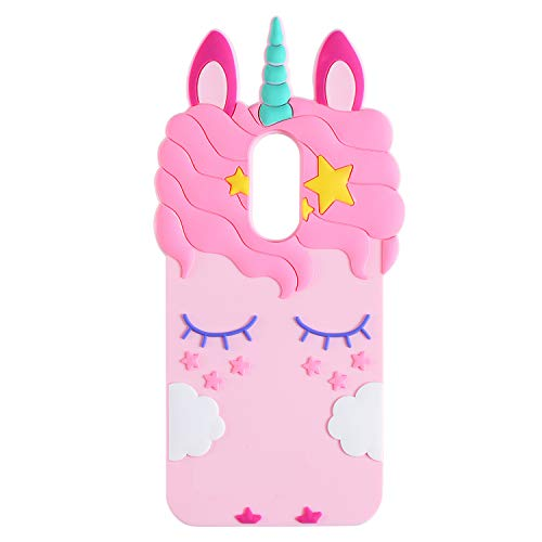 TopSZ Pink Unicorn Case for LG Stylo 4,Stylo 4 Plus,Stylo 4 (2018),3D Cartoon Silicone Character Kawaii Animal Cover…