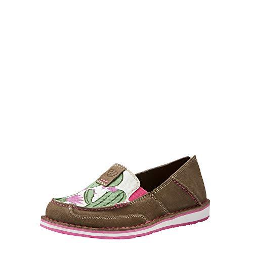 Ariat Women's Cruiser Slip-on Shoe, Relaxed Bark/Cactus Print, 8 B US