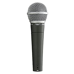 Pyle-Pro Professional Moving Coil Dynamic Cardioid Unidirectional Vocal Handheld Microphone Includes 15ft XLR Audio Cable to 1/4'' Audio Connection (PDMIC58)