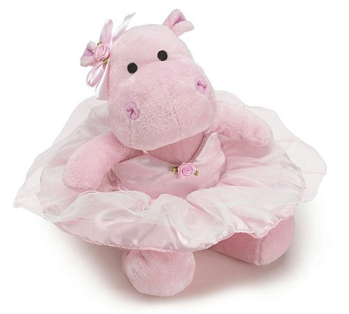 Burton and Burton Stuffed Animal Cute Pink Ballerina Hippo Plush Toy -