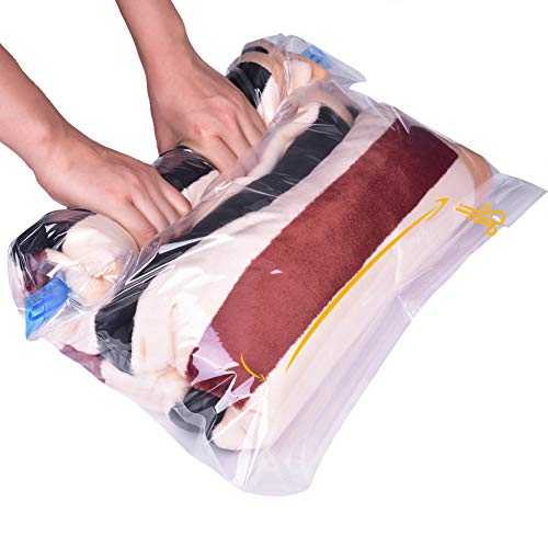 TANTAI_CARE Travel Space Saver Bags (Small to Large) - Premium Vacuum Storage Roll Up Compression Bags,No Pump Tools to Extract Air Travel Home Storage(3 Sizes Pack of 10)
