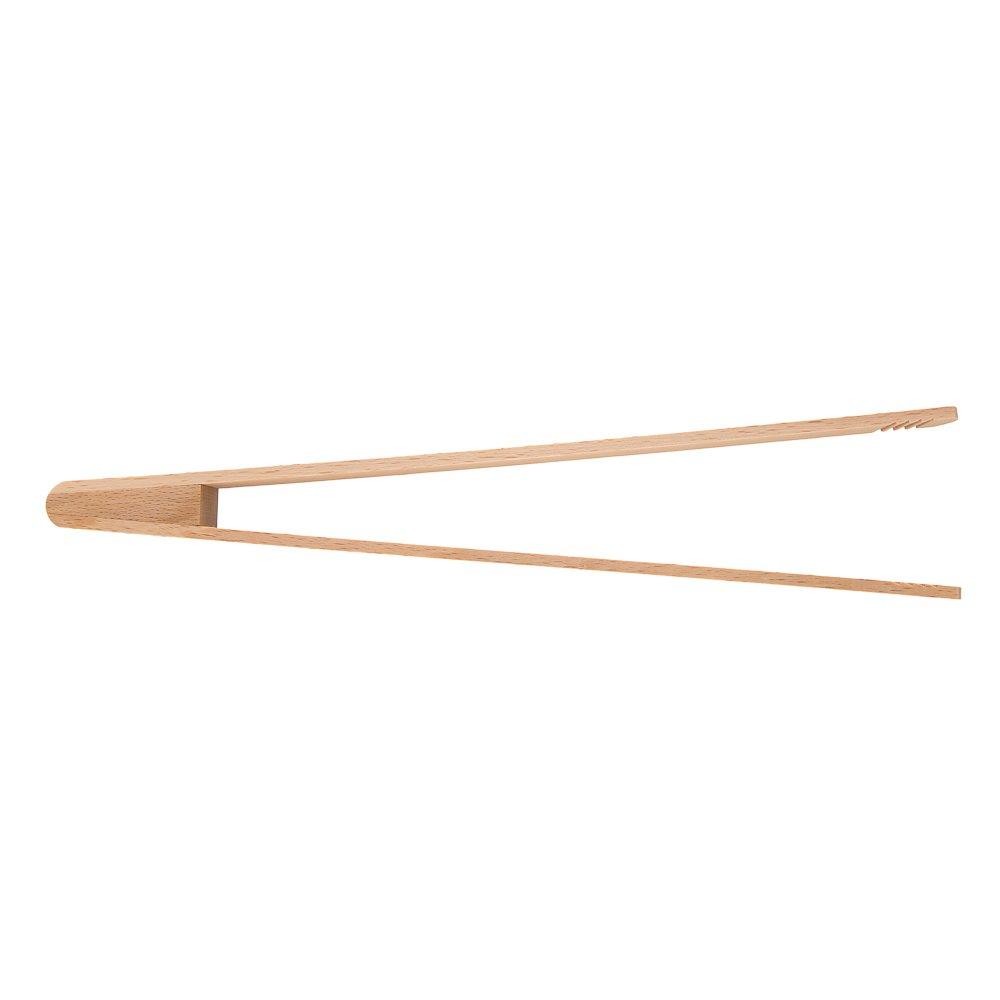 Grillwender Holzzange /& BBQ Zange Buchenholz lang Uulki/® Grillzangen Wender Set 30 cm