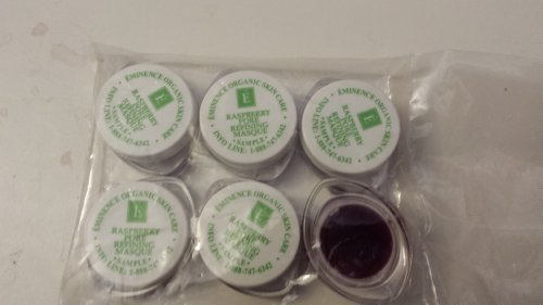 Eminence Raspberry Pore Refining Masque Sample Set of Six Travel Size 100% Fresh Organic by Eminence Organic Skin Care