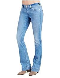True Religion womens Becca Mid Rise Bootcut Jean