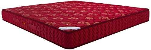 Amazon Brand   Solimo 6 inch Medium King Size Bonnell Spring Mattress  Maroon, 78x72x6 Inches
