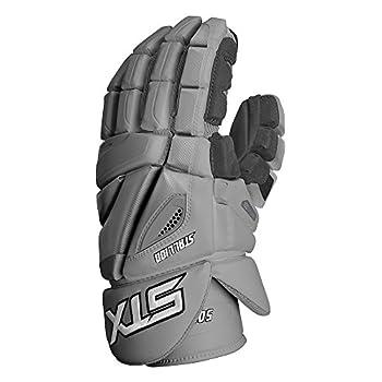 Image of STX Lacrosse Stallion 500 Gloves, Grey, Size 14