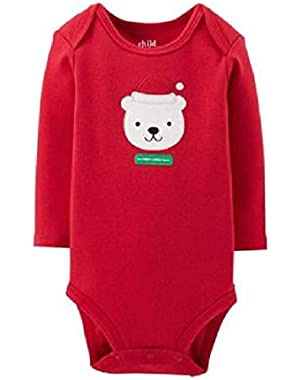 Baby Boys' Girls' MY FIRST CHRISTMAS Bear Santa Dress Up Bodysuit Outfit