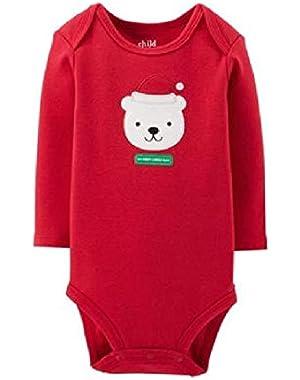 Baby Boys' Girls' MY FIRST CHRISTMAS Bear Santa Dress Up Bodysuit Outfit