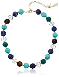 """Lonna & Lilly Blue Horizons Beaded Collar Multi-Necklace, 17"""" + 3"""" Extender"""