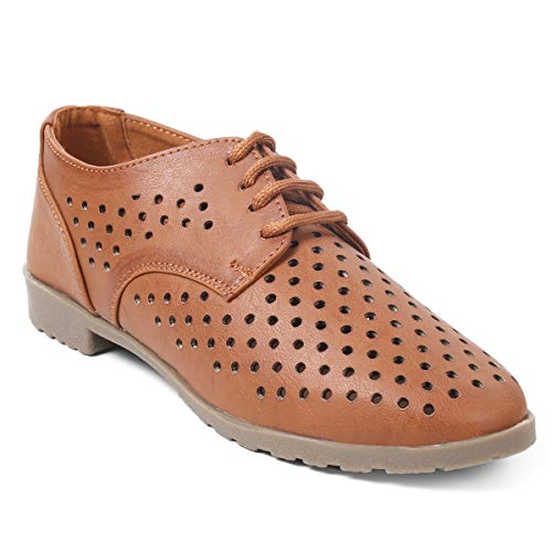 meriggiare® Women PU/Synthetic Leather Lace-ups Perforated/Laser Cut Casual/Evening/Party/Semi-Formal Sneakers
