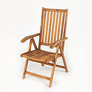Greenfingers Portland FSC Acacia reclinable silla