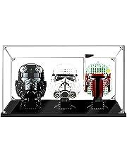 Hosdiy Acryl Vitrine Display Case voor Lego Star Wars Helmet Series - Display Case Vitrine ( Alleen Vitrine, Zonder Lego Model )