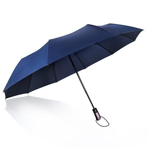 Regenschirm Taschenschirm,Proking windtest Taschenschirm bei 140km/h,Auf-Zu-Automatik, klein,leicht&kompakt,stabil Reisen Regenschirm,10 Rippen Golf Regenschirme Einhandbedienung mit Leichtem,105cm