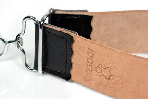 RAZZOOR strop hecho de cuero de búfalo genuino - herramienta de alta calidad para colgar / afilar colgantes para afilar cuchillas - utilizable en ambos lados
